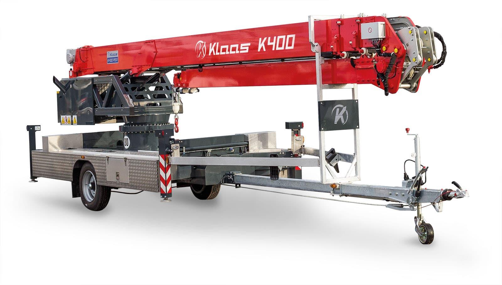 Nyhet: K400RSX 34,2m krokhøyde, med kurv 30,6m.